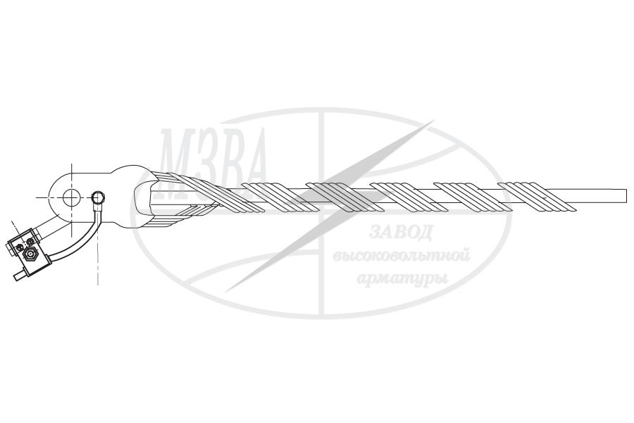 Зажимы натяжные спиральные типа НС