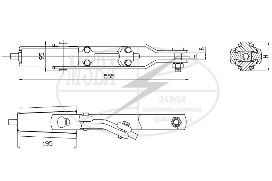 Зажимы натяжные клиновые типа НК-120, НК-160 и НК-210