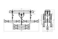 Подвесы многороликовые поддерживающие типа 5П6Р