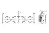 Подвесы многороликовые поддерживающие типа П4Р
