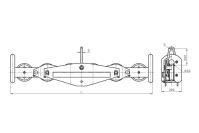 Подвесы многороликовые поддерживающие типа П6Р