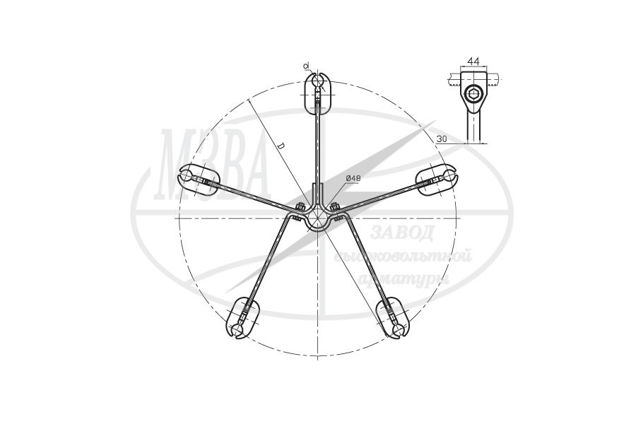 Распорки специальные для комплектации натяжных изолирующих подвесок