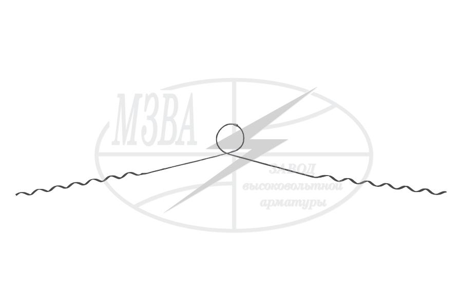 Зажимы спиральные типа ПВС и ПВСн для крепления проводов марки А, АС, АЖ к штыревым и опорным линейным  изоляторам