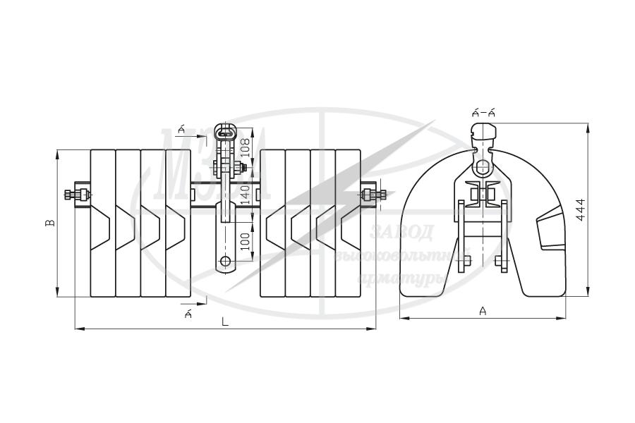 Балласты к поддерживающим зажимам для одного провода типа БЛ