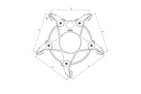 Распорки дистанционные демпфирующие типа 5РГД