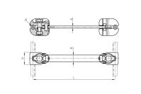 Распорки дистанционные глухие типа РГУ
