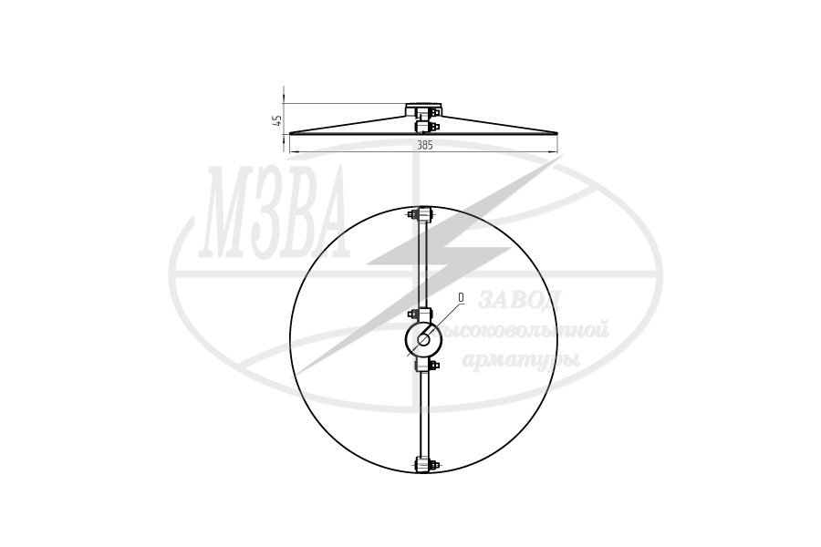 Устройства защиты птиц от поражения электрическим током на ВЛ барьерного  типа ЭЗ-385