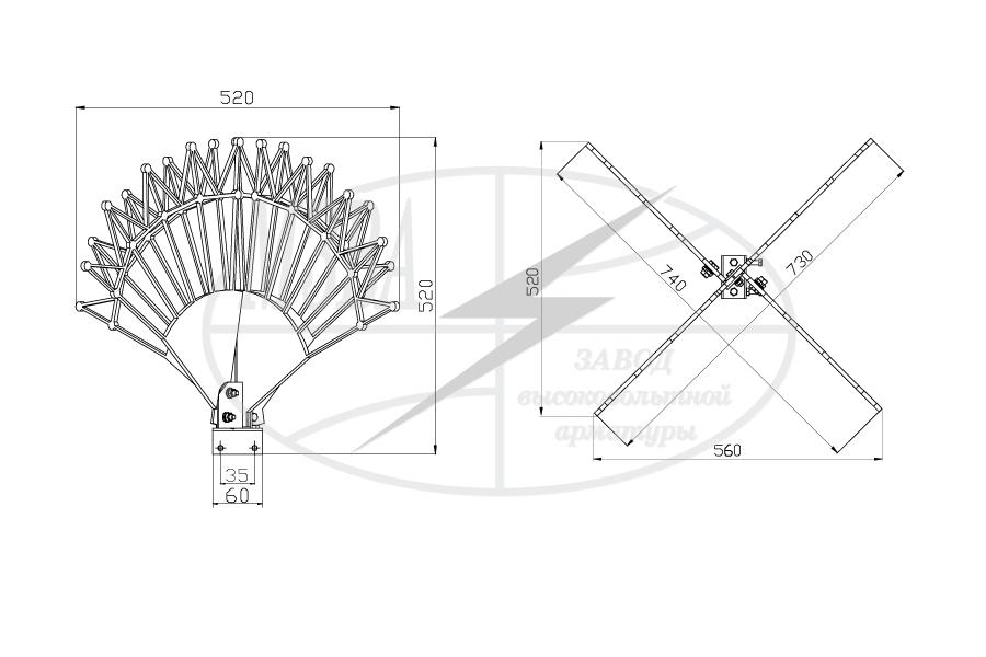 Устройства защиты птиц от поражения электрическим током на ВЛ антиприсадочного типа ЗП-АП
