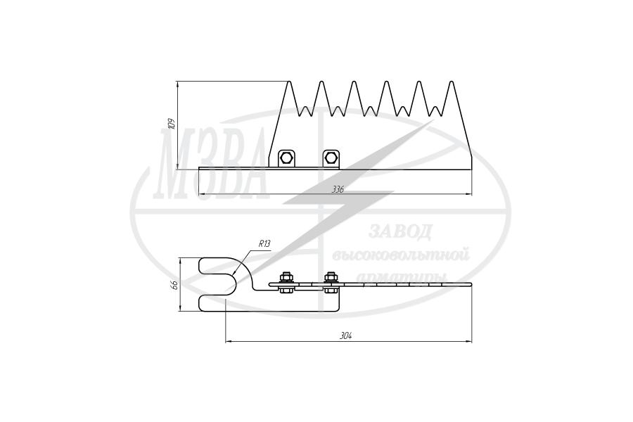 Устройства защиты птиц от поражения электрическим током на ВЛ антиприсадочного типа ЗП-АП6
