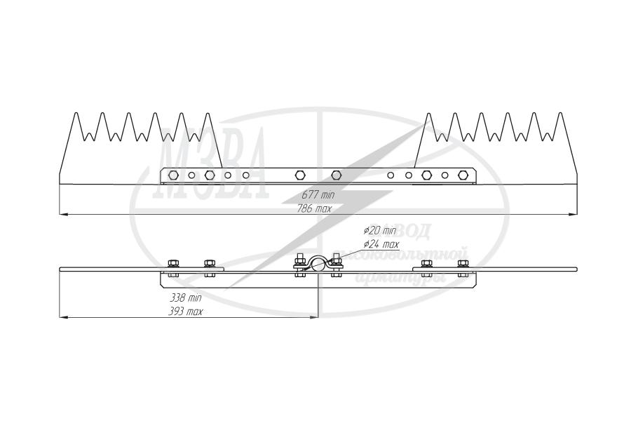 Устройства защиты птиц от поражения электрическим током на ВЛ антиприсадочного типа ЗП-АП6Ш